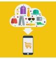 mobile shopping man vector image vector image