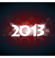 New Year card 2013 vector image vector image