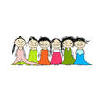 party friends vector image vector image