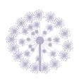 Pastel purple silhouette dandelion with pistils vector image
