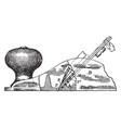 plane tool vintage vector image vector image