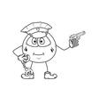 policeman sketch vector image vector image