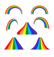 Rainbow icons set flat vector image