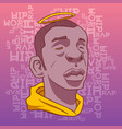 rap and hip hop inscriptions on the background of vector image vector image