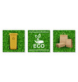 realistic ecology and nature elements set vector image vector image