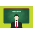 resilience concept with business man vector image vector image