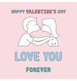Romantic card70 vector image vector image