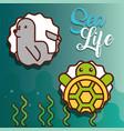 sea life cartoon vector image vector image