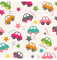 seamless background with cars vector image vector image