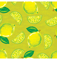 seamless pattern of yellow lemons vector image vector image