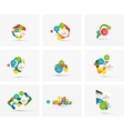 Set of step infographics business layouts vector image
