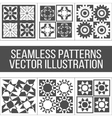 Six seamless geometric patterns vector image vector image