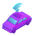 smart car icon isometric style vector image vector image