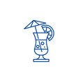 summer cocktail line icon concept summer cocktail vector image vector image