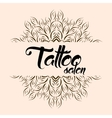 Tattoo salon emblem logo with mandala vector image