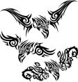 tattoos birds of prey vector image vector image