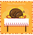 Thanksgiving Day card with traditional turkey vector image vector image