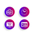 Time augmented reality and web tutorials icons
