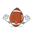 tongue out american football character cartoon vector image vector image