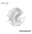 topography map vector image