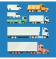 Trucks and trailers on a white background vector image vector image