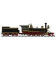 vintage black american steam locomotive vector image vector image