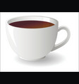 white cup tea vector image vector image