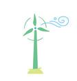 wind turbine eco icon vector image