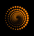 abstract technology circles sign orange icon on vector image