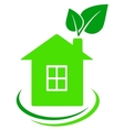 house with leaves vector image