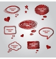 Speech red collection element for you design vector image