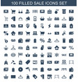 100 sale icons vector image vector image
