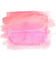 Abstract watercolor hand paint pink texture vector image vector image
