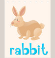 animal flashcard with rabbit vector image