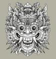 balinese barong traditional mask vector image vector image