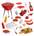 BBQ Grill Elements Set vector image vector image