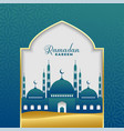 beautiful ramadan kareem islamic background vector image vector image