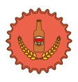 beer cap emblem icon image vector image vector image