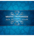 blue christmas background and sale offer vector image