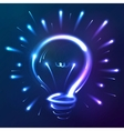 Bright blue neon lights abstract bulb vector image vector image