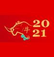 chinese new year ox bull buffalo icon zodiac vector image