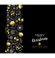 Christmas and New Year gold pattern decoration vector image vector image