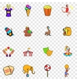 Circus set icons vector image vector image