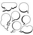 comic bubbles and clouds cartoon text boxes set vector image vector image