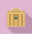 courthouse institution icon flat style vector image vector image