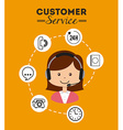 customer service vector image vector image