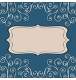Decorative pattern text background vector image