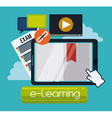 Education online vector image