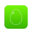 egg icon green vector image vector image