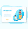 fathers day landing page template vector image